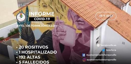 INFORME DE SITUACIÓN COVID-19 a 19/7/2021