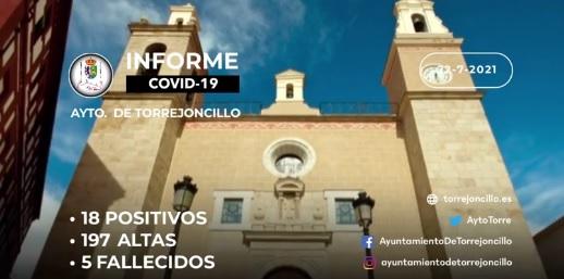INFORME DE SITUACIÓN COVID-19 a 22/07/2021