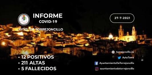 INFORME DE SITUACIÓN COVID-19 a 27/07/2021