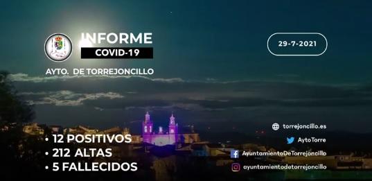 INFORME DE SITUACIÓN COVID-19 a 29/07/2021.