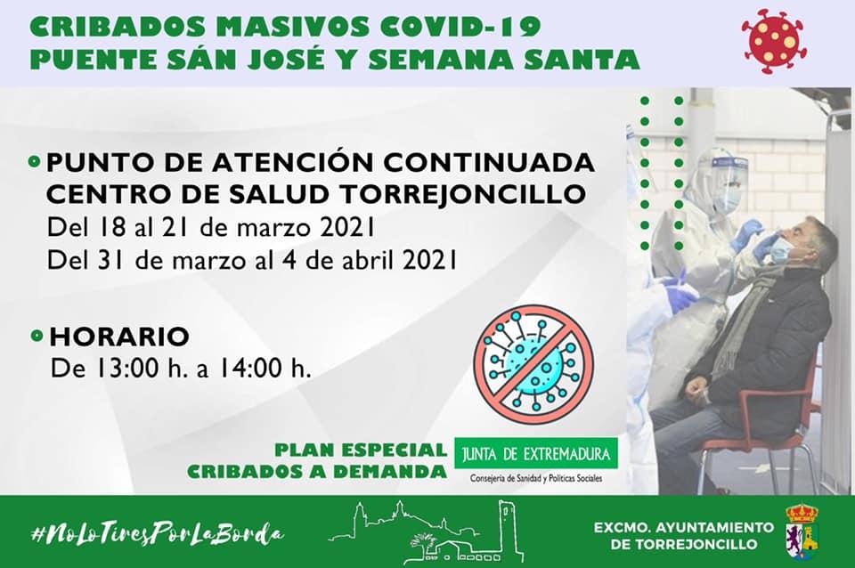 PLAN ESPECIAL CRIBADOS A DEMANDA DE LA JUNTA DE EXTREMADURA