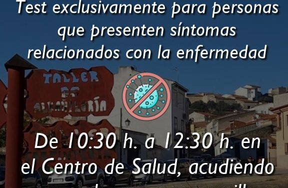 CRIBADO MASIVO COVID-19 SOLO PARA PERSONAS CON SÍNTOMAS