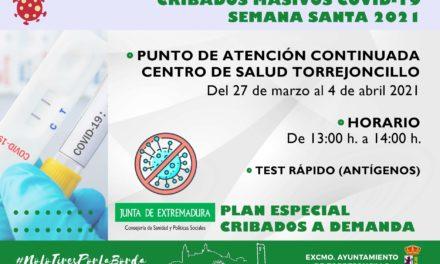 NUEVAS FECHAS CRIBADOS MASIVOS COVID-19 SEMANA SANTA