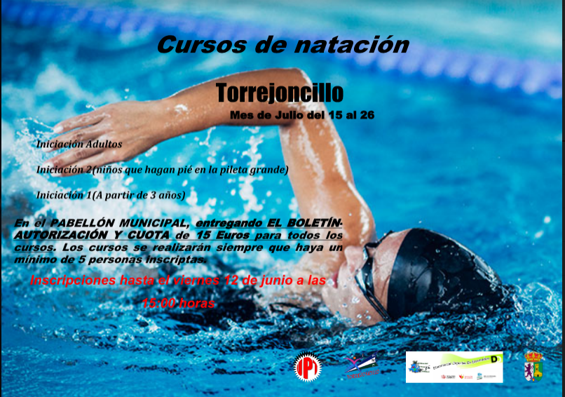 Curso de natación en Torrejoncillo