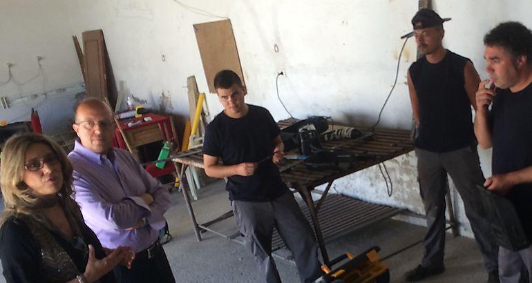 Teniente visita el taller de empleo de @prendizext que se desarrolla en Torrejoncillo