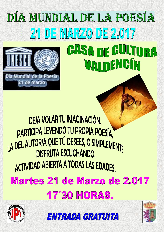 Día de la poesía en Torrejoncillo y Valdencín 2017