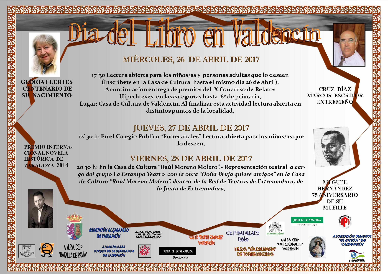 Día Mundial del Libro en Torrejoncillo y Valdencín