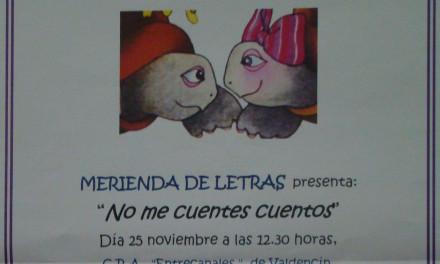 «No me cuentes cuentos» en el CRA Entrecanales