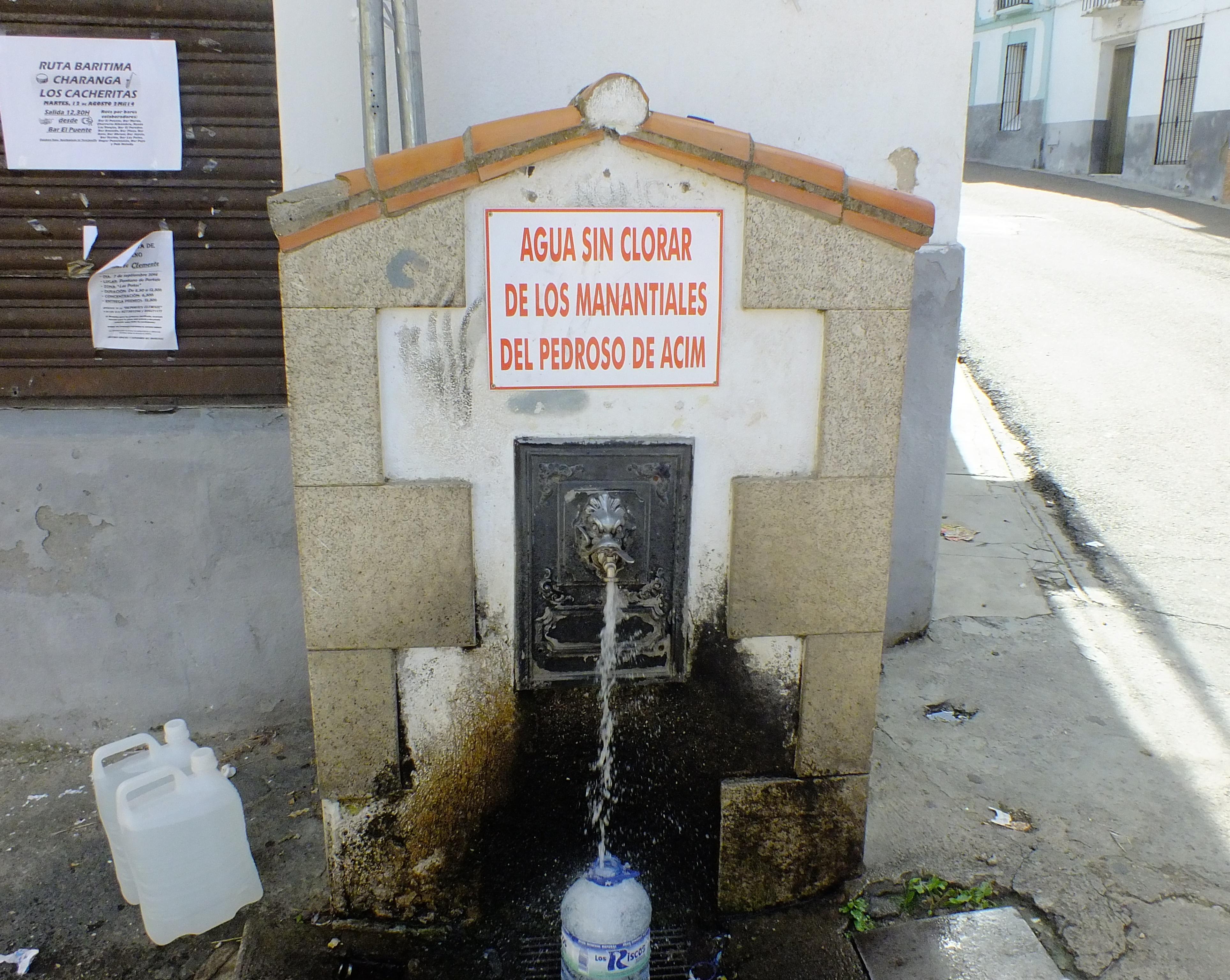 Sustitución de las tuberías del manantial Sierra del Brezal