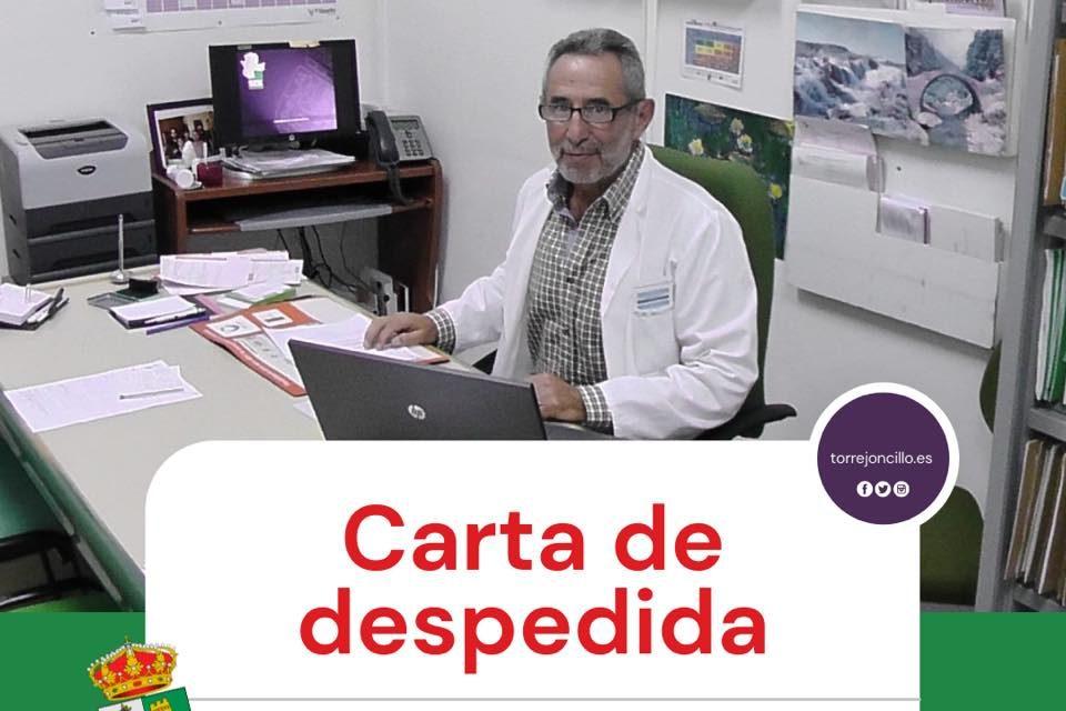 Carta de despedida de D. Cándido Martín Gil