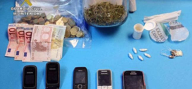 Dos detenidos por distribuir droga en el Valle del Alagón y la comarca de Alcántara