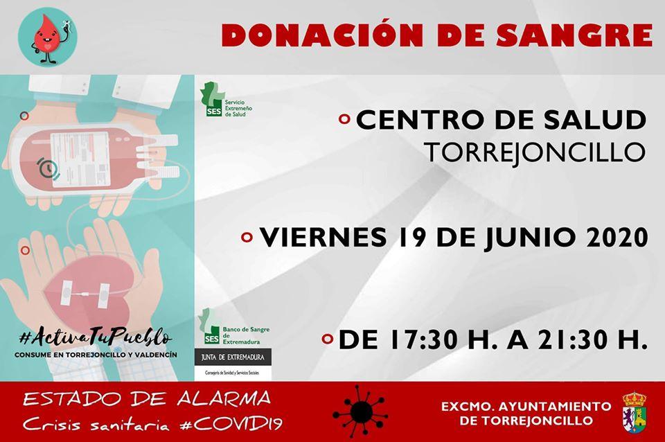 Donación de Sangre en Torrejoncillo