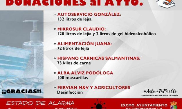 Agradecimientos del Ayuntamiento de Torrejoncillo