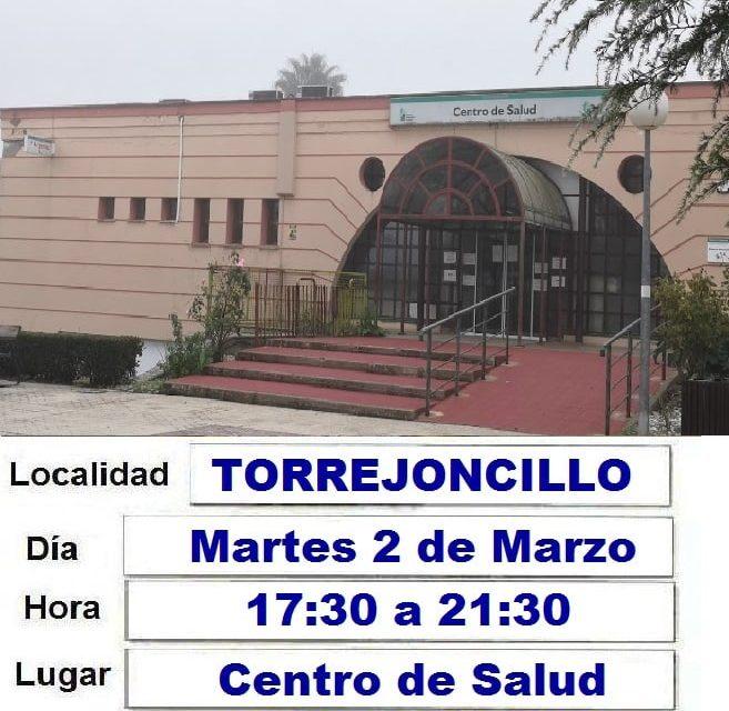 Colecta de Sangre en Torrejoncillo