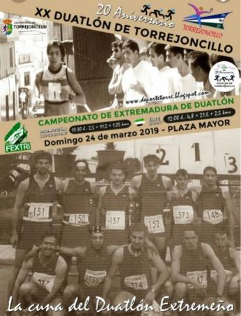 La vigésima edición del Campeonato Regional de  Duatlón se celebrará en Torrejoncillo