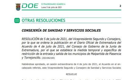 Publicado DOE del Cierre Perimetral de Torrejoncillo y Valdencin