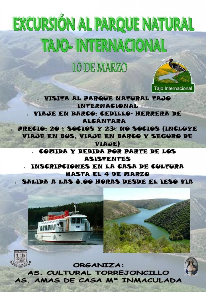 EXCURSION TAJO INTERNACIONAL