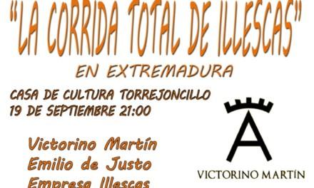 Presentación de la Corrida Total en Illescas en Torrejoncillo