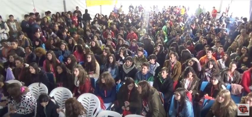 Exitoso encuentro de Jóvenes Cristianos a pesar de la lluvia (Contiene video)
