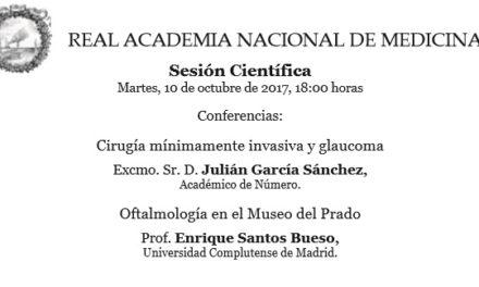Conferencia de Enrique Santos en la Real Academia Nacional de Medicina