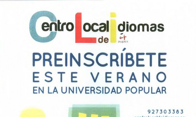 Abierto plazo de preinscripciones en el Centro Local de Idiomas