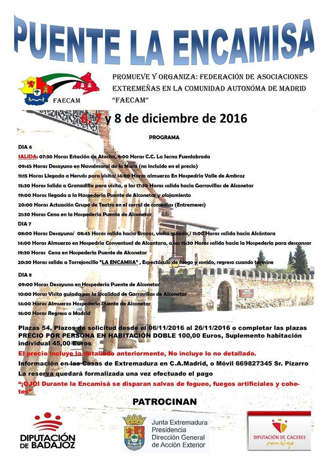 La FAECAM organiza excursión a la Encamisá