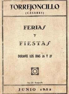 Feria Torrejoncillo 1952.