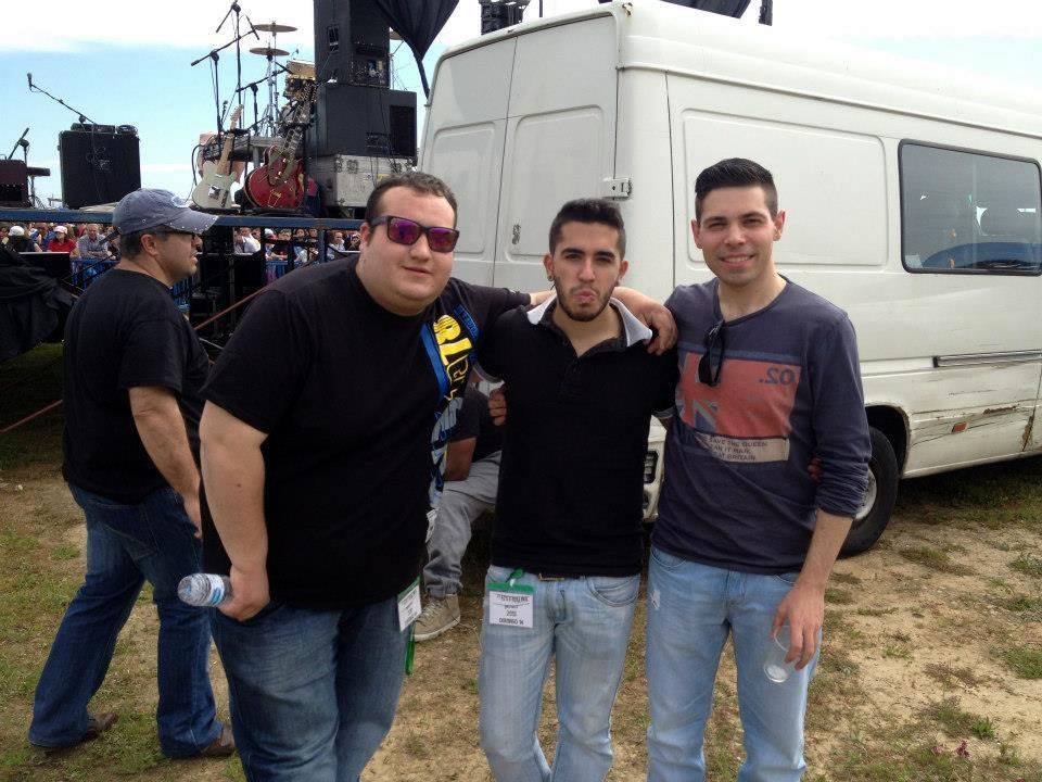 Manu Sánchez (derecha) junto a sus compañeros dj's Ros (izquierda) y Kily Diaz (centro)
