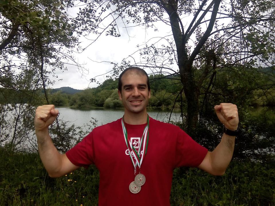 Fran Llanos, medalla de plata en el Campeonato de Euskadi en Legutiano
