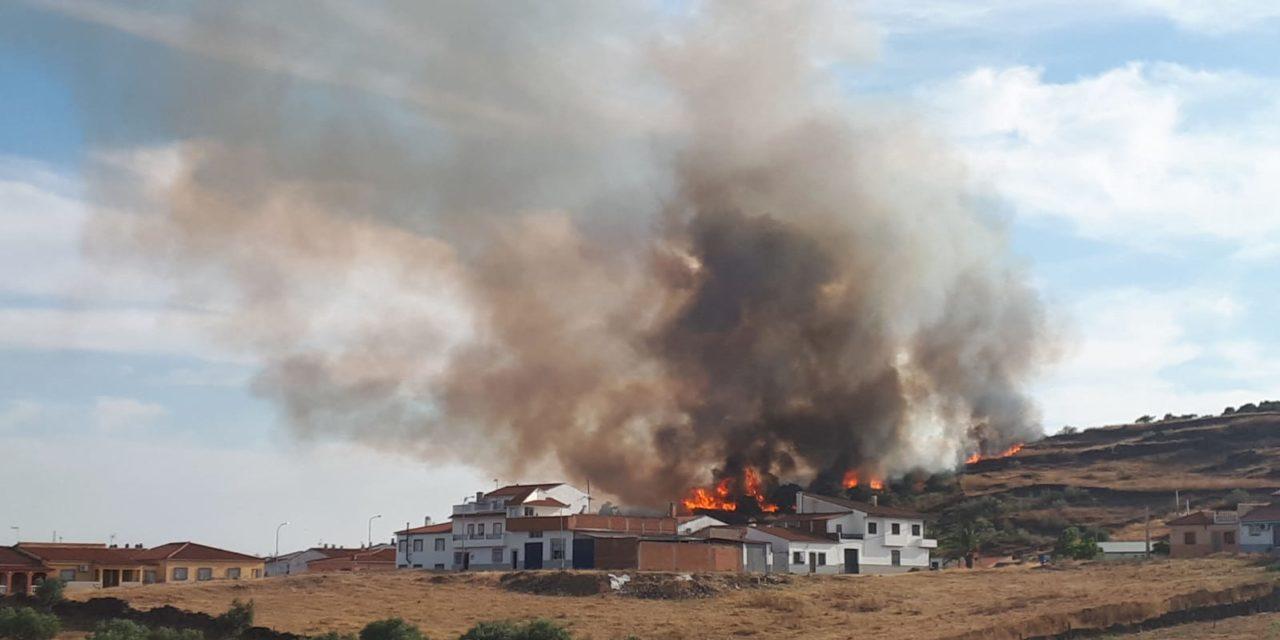 Alarmante fuego en Torrejoncillo