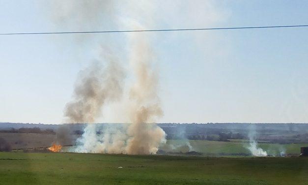 Varios fuegos en Torrejoncillo y Valdencín