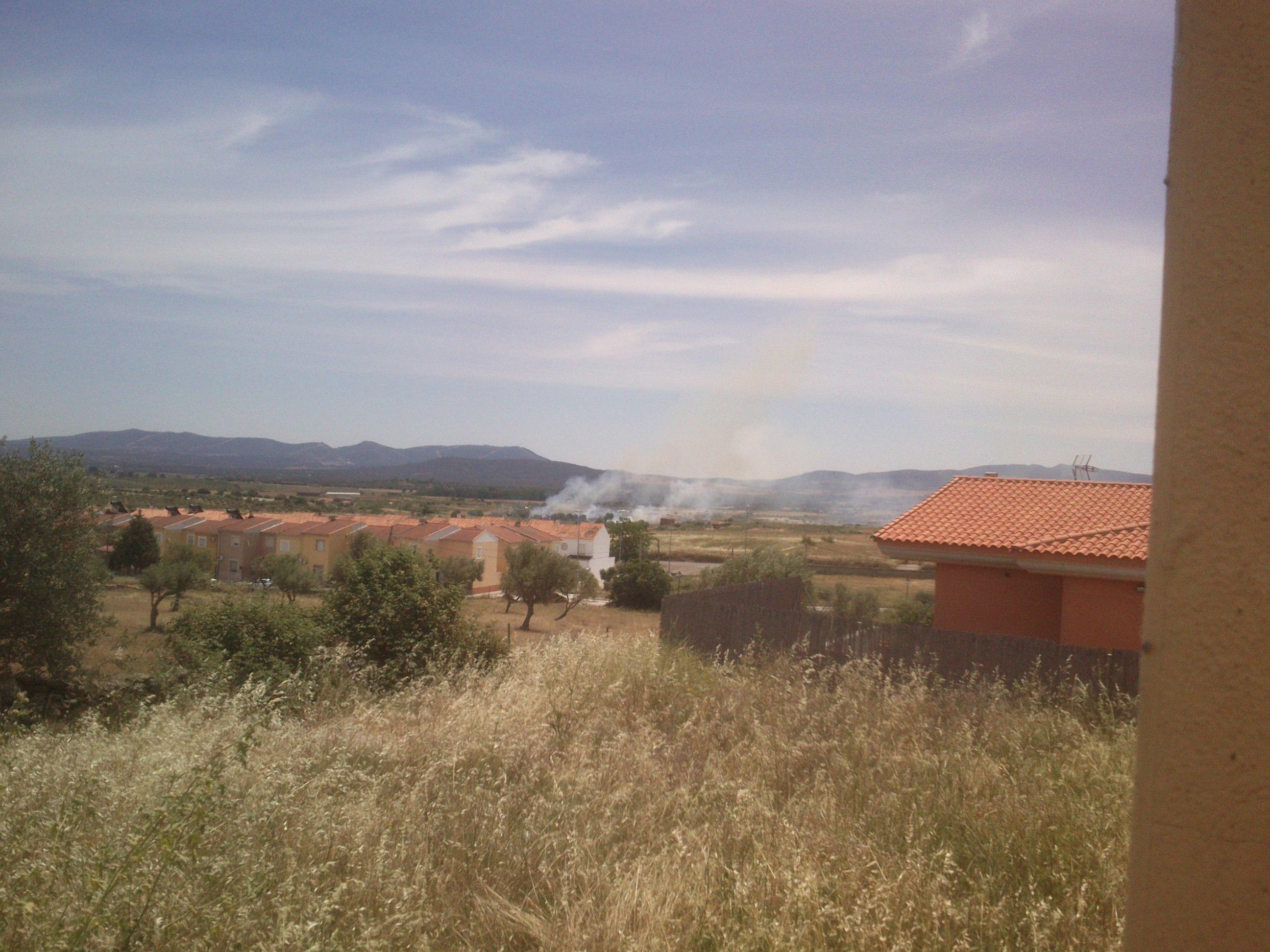 Primer fuego de la temporada en Torrejoncillo
