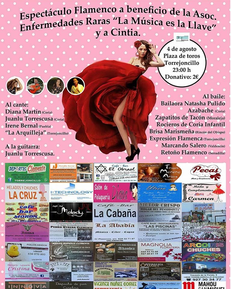 """Espectáculo Flamenco a beneficio de la Asociación de Enfermedades Raras """"La Música es la llave"""" y  Cintia"""