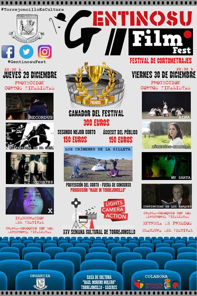 Ya tenemos los finalistas del I Festival de Cortometrajes Gentinosu Film Fest