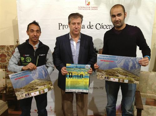 Pedro José Hernández y Fernando Manzano presentaron el I Kilómetro Vertical «Trofeo Diputación de Cáceres»