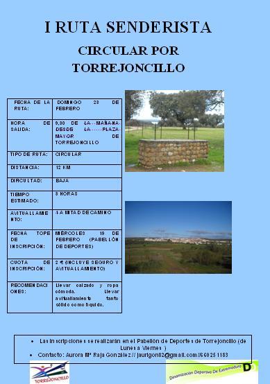I Ruta senderista circular Torrejoncillo