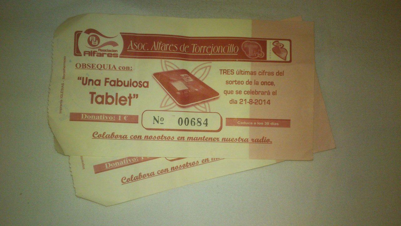 Tablet de la Asociación Cultural Alfares