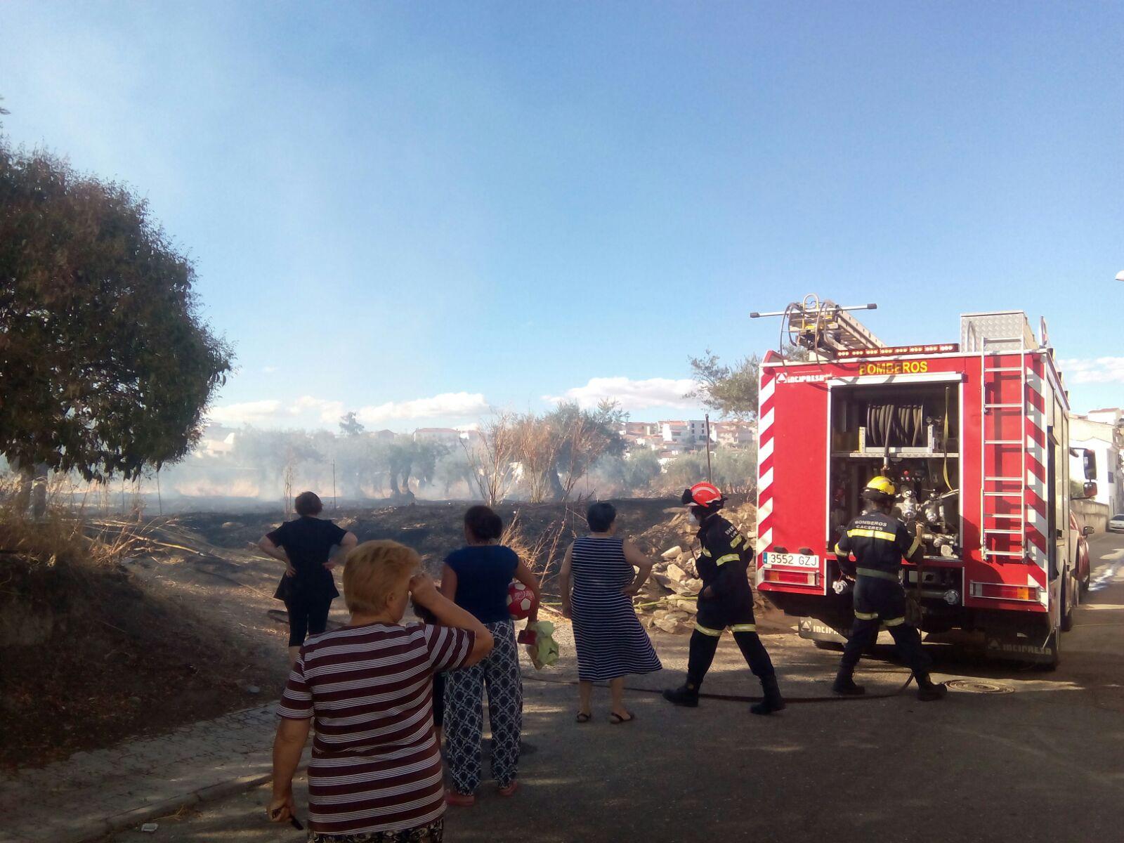 Incendio en Torrejoncillo en la zona del «Perché»