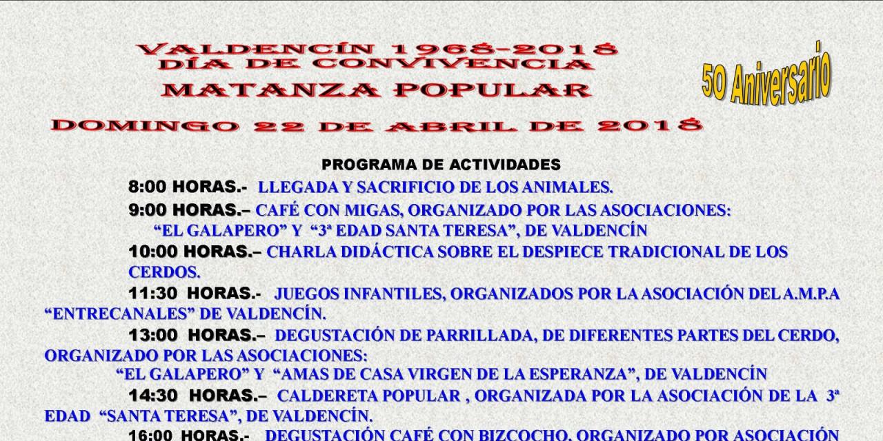 Aplazados los actos programados por el 50º aniversario de la fundación de Valdencín