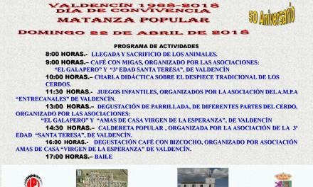 Celebración del 50º aniversario de la fundación de Valdencín