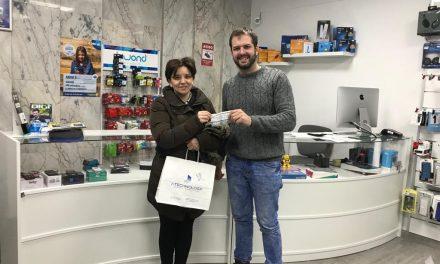 Entregado el premio sorteado por la Asociación Alfares
