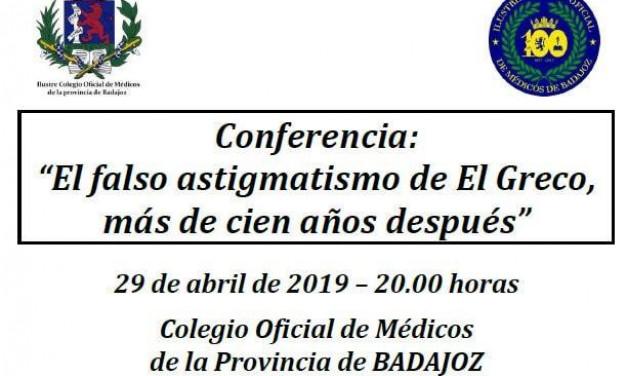 El doctor Santos Bueso disertará en Badajoz sobre el falso astigmatismo de El Greco