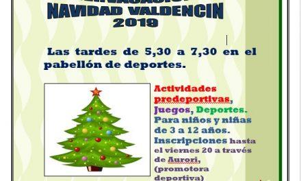 Divervacaciones de Navidad en Valdencín