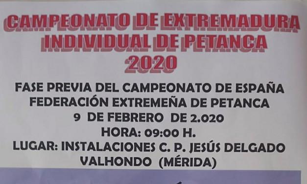 Torrejoncillano en la fase previa del Campeonato de España de Petanca