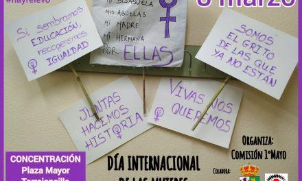 Concentración con motivo del 8 de Marzo en Torrejoncillo