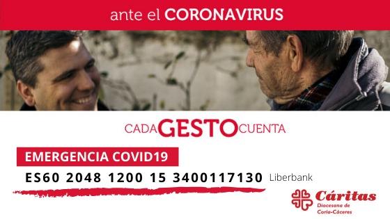 Caritas ante el coronavirus . Cada gesto cuenta