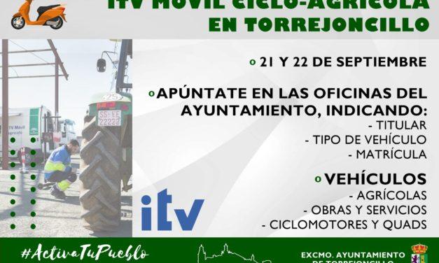 ITV MÓVIL CICLO-AGRÍCOLA EN TORREJONCILLO