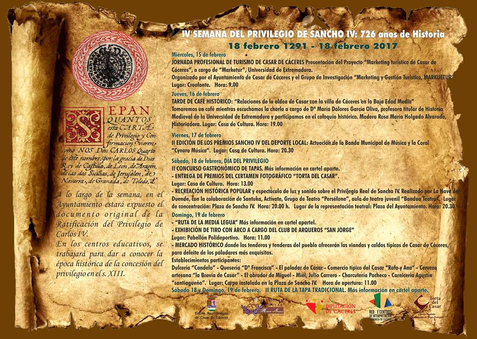 Dos torrejoncillanos protagonistas en la IV Semana del Privilegio de Sancho IV