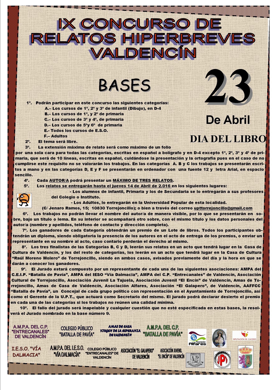 IX Concurso relatos hiperbreves en Valdencín