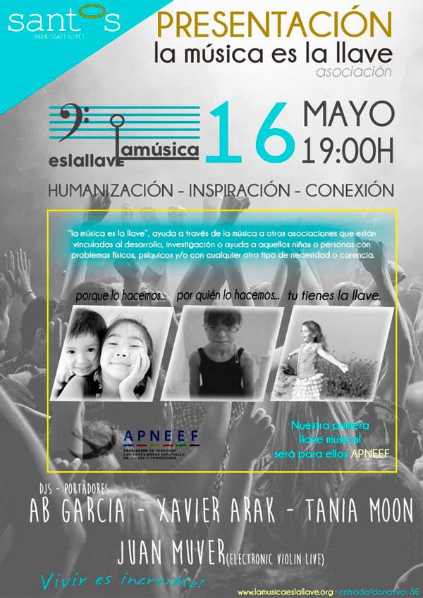 Isidoro Haro presento oficialmente el pasado viernes día 16 de Mayo asociación LA MUSICA ES LA LLAVE  en el Hotel Santos Coast Suites